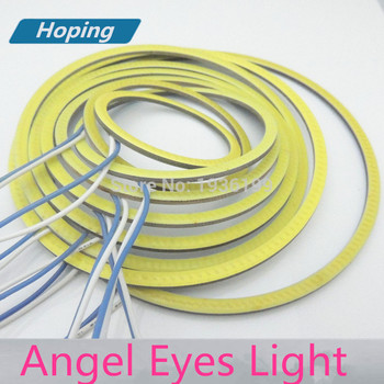 Cerot, 2GAB Angel acis COB 85mm 80mm LED COB Halo Gredzeni Angel Eye COB gaismas avotu, bmw, subaru, toyota, ford, honda 3875