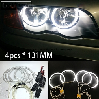 HochiTech BMW E36 E38 E39 E46 Ultra Spilgta Dienas Gaismas DRL CCFL Angel Eyes Demon Eyes Komplektu Silti Balta Halo Gredzenu 131mm*4gab 64050