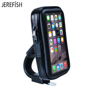 JEREFISH Waterproof Motorcycle Mobile Phone Holder Bag Mount Stand Cellphone Case for iPhone 6S Plus 7 8 8Plus Galaxy Note 3 115679